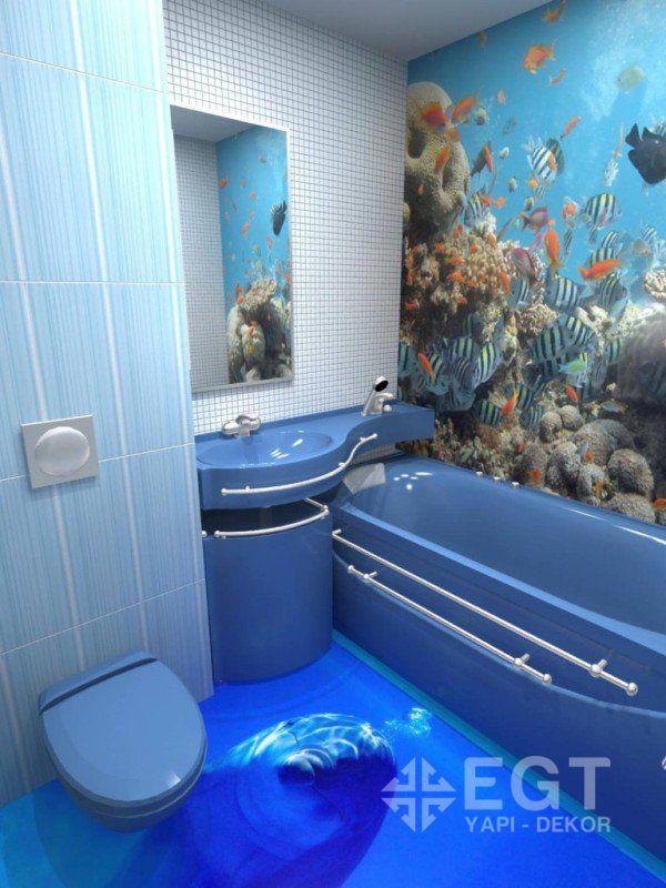 Пол для ванной дизайн